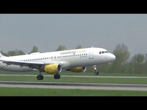 [HD] Vueling A320-232 Sharklets landing &takeoff at Basel/BSL/LFSB
