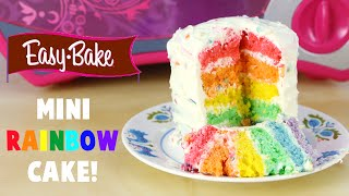 How to Make an Easy Bake Oven Mini Rainbow Cake and It