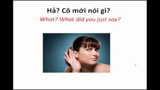 "Learn Vietnamese Vocabulary #5: ""Can you say that again?"" and ""Can you speak more slowly?"""