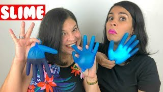 SLIME 💦 CON GUANTES 🧤 | Slime Gloves Challenge