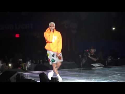 Chris Brown performs Deuces Live Party Tour 2017