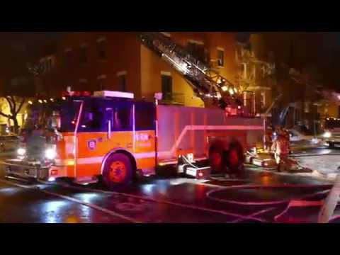 INCENDIE / FIRE - DEZERY - ADAM / 10-09 / MONTREAL FIRE DEPARTMENT / SIM / 4K