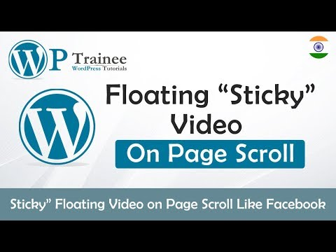 """How to Create a """"Sticky"""" Floating Video on Page Scroll 