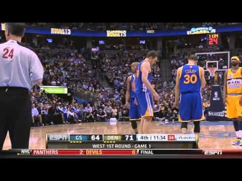 David Lee injury Warriors-Nuggets Game 1