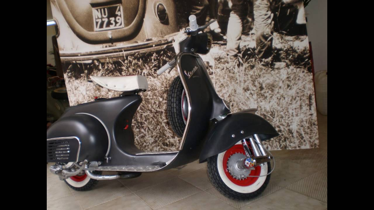 Piaggio vespa custom restoration 150 vbb italia youtube for Vespa com italia