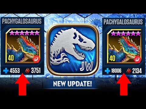 Ludia Boosted PACHYGALOSAURUS To 18K Health - WT... || Jurassic World The Game [FHD-1080p]