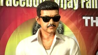 Actor Vijay - Life Size Statue Erected by his Angry Fans – RedPix24x7
