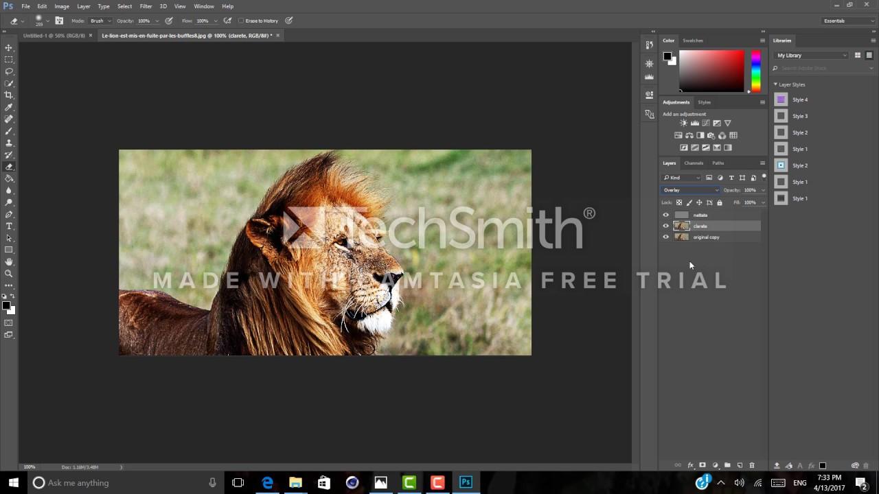 Comment Rendre Une Image Plus Nette Avec Photoshop Youtube