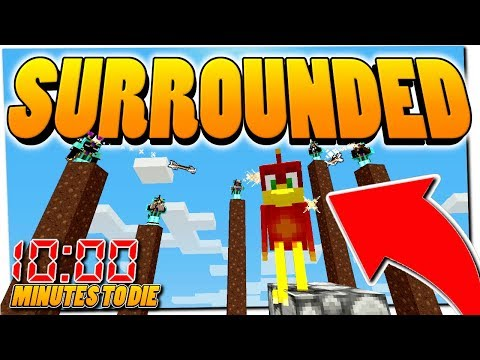 COMPLETELY SURROUNDED BY KILLERS - 10:00 Minutes to DIE Minecraft Challenge