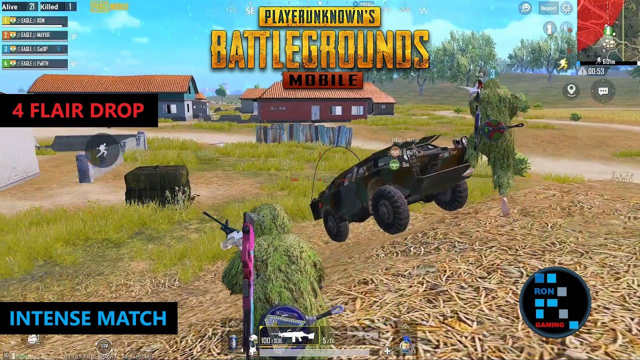 PUBG MOBILE | AMAZING 4 FLAIR DROP LOOT WITH BRDM FUN CHICKEN DINNER (OLD RECORDING)