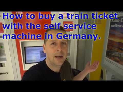 How To Buy A Train Ticket With The Self Service Machine In Germany. (it's Tricky, Watch This First)