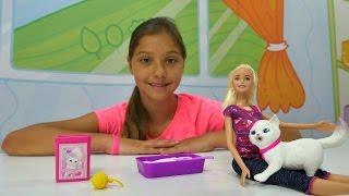 Barbie ve kedi bakımı oyunu. Polen ile kız oyuncakları