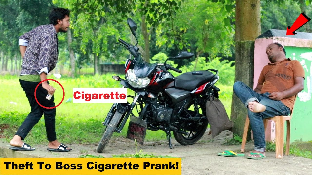 Theft To Boss Cigarette Prank Comedy! New Funny Joke Video in 2021