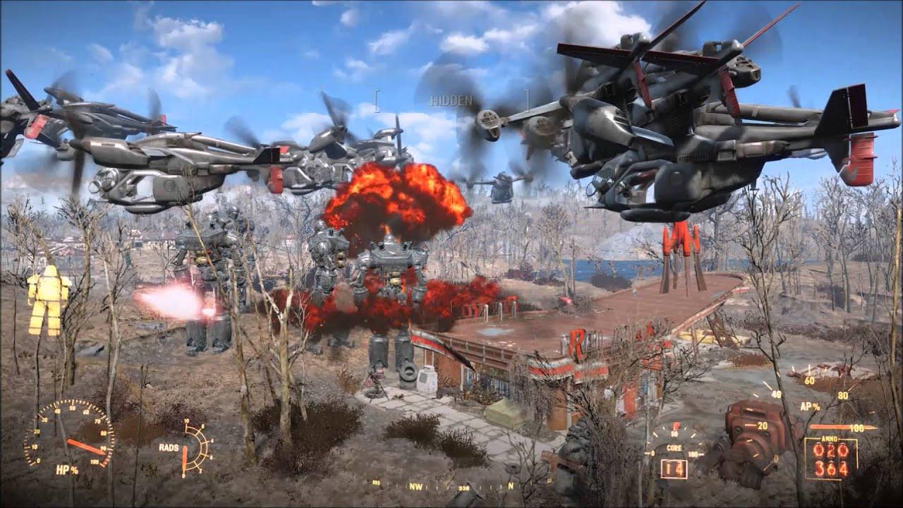 FALLOUT 4 BATTLE Liberty Prime VS