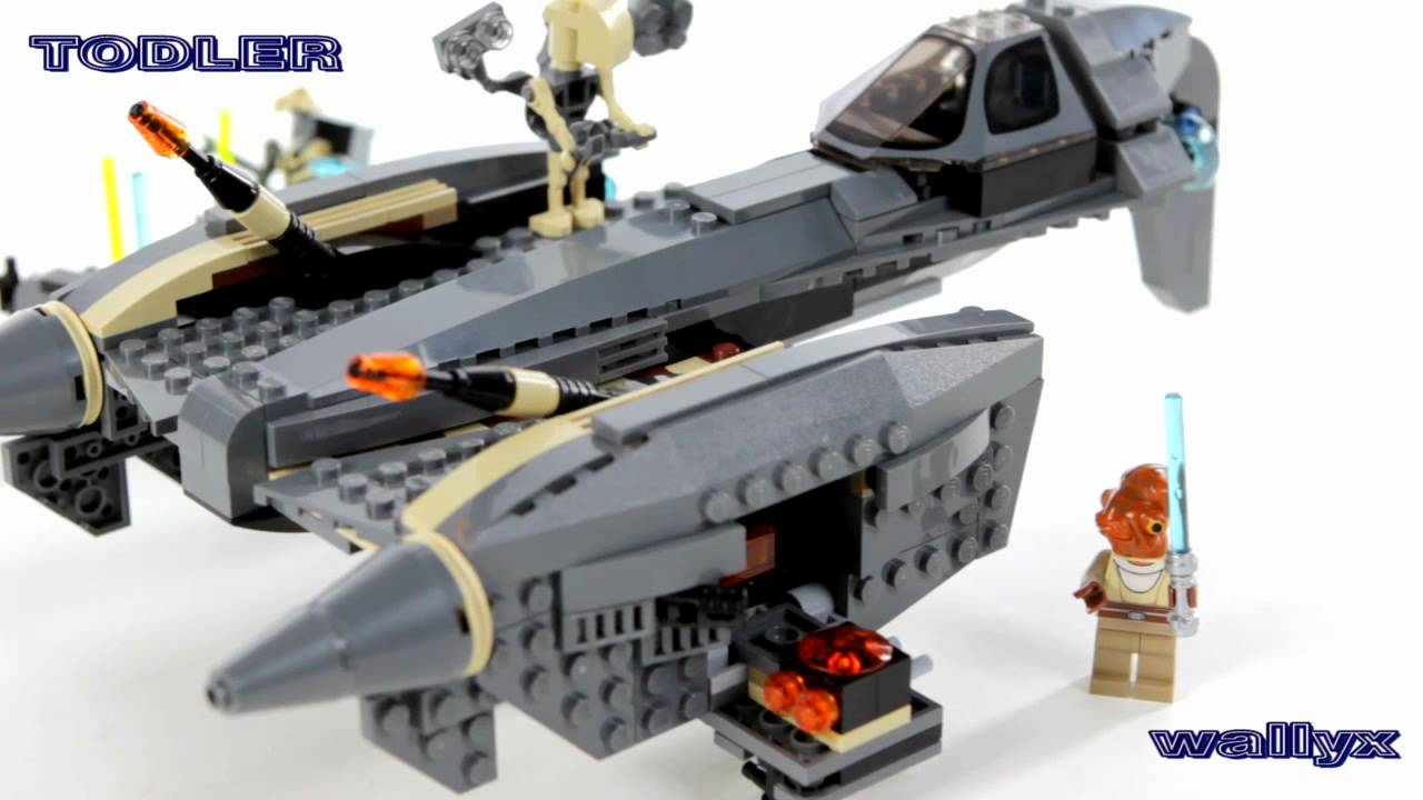 Lego 8095 Star Wars General Grievous Starfighter Youtube