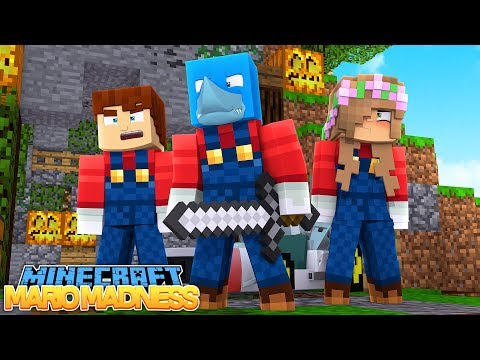 SUPER MARIO CHALLENGE - Minecraft Bed Wars w/ Little Kelly, Sharky and Scuba Steve