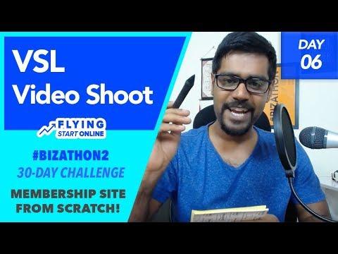 Video Sales Letter (VSL) Shoot For Selling Memberships - (Day 6/30) #Bizathon2