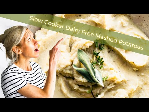 White Bean Slow Cooker Mashed Potatoes (Vegan)