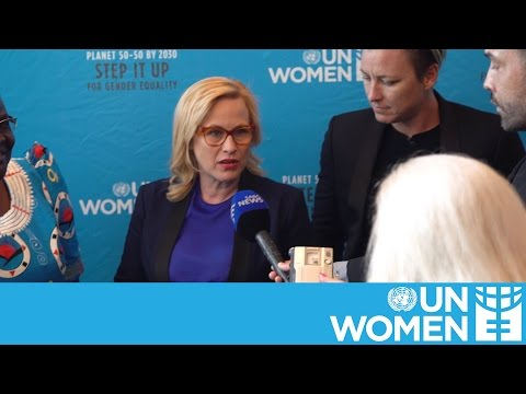 Patricia Arquette calls for equal pay at UN