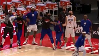 Reggie Jackson SHOCKS Kawhi Leonard & Clippers bench after INSANE Game Winner vs Pistons!