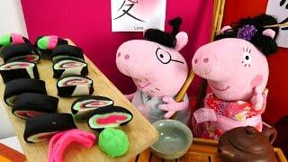 Пеппа и плюшевые игрушки - Свинки летят в Японию