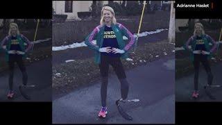 Boston bombing survivor prepares to run the marathon
