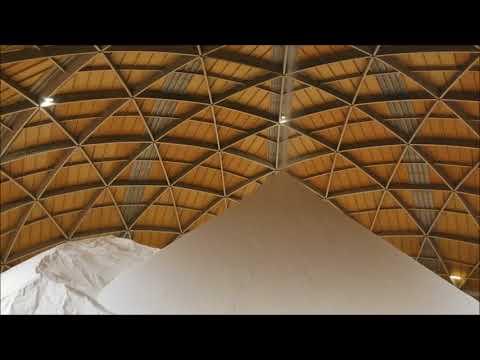 Dome storage for dry bulk materials like coal, ash, clinker, salt, potash