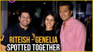 Riteish And Genelia Spotted together In Mumbai | Riteish Deshmukh | Genelia Deshmukh