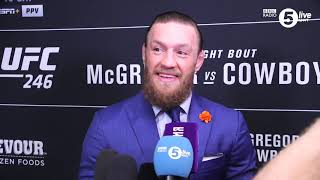 """Download """"I made history again"""" Conor McGregor reflects on his sensational TKO win over Donald Cerrone Mp3 and Videos"""