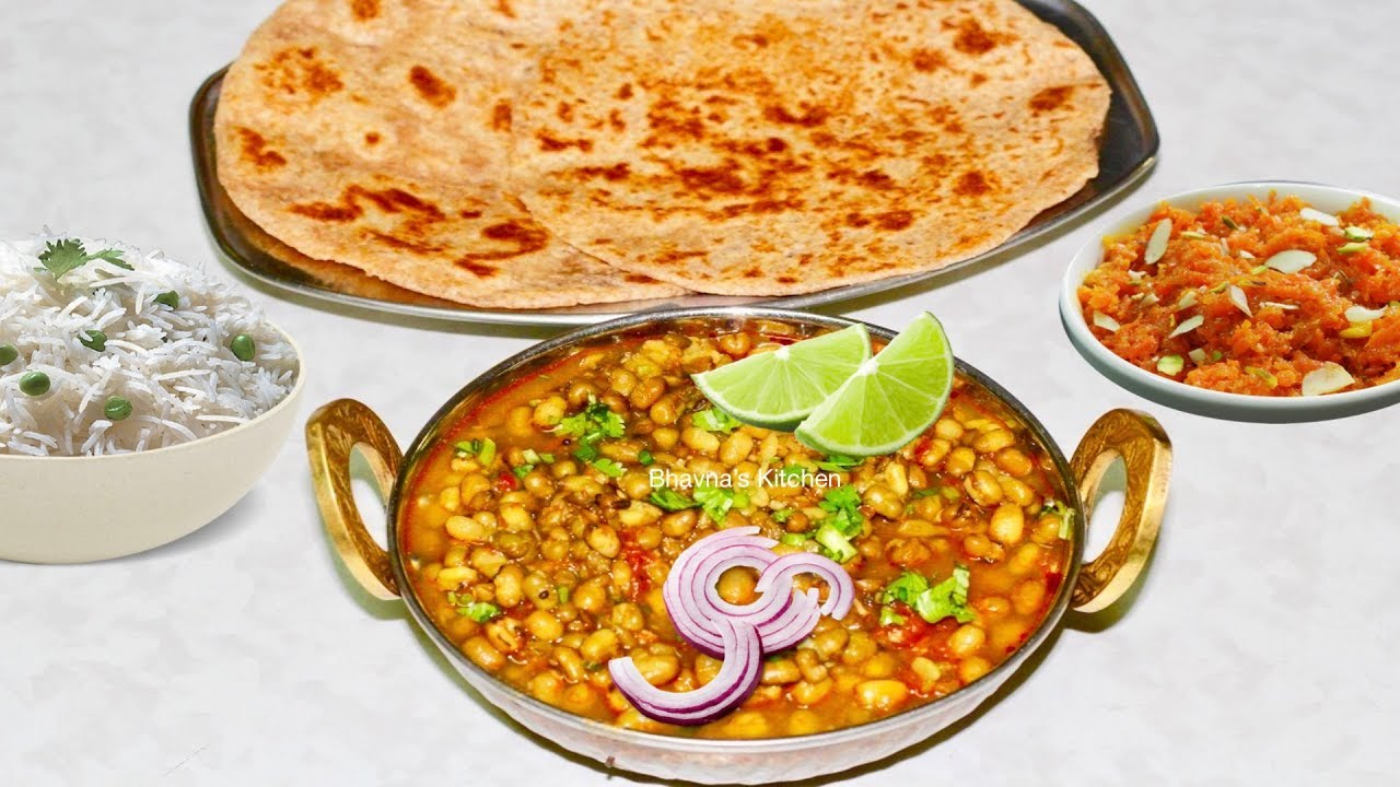 Quick Pressure Cooked Mung Or Moong Bean Curry Mag Nu Shaak Video Recipe Bhavnas Kitchen