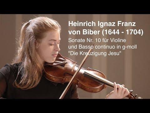 Heinrich Ignaz Franz von Biber Sonate Nr 10 für Violine und Basso continuo in g moll
