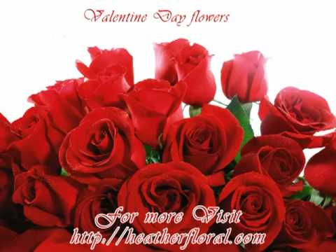 Valentine Day Flowers Red Roses Youtube