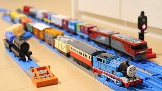 プラレール トーマスといっぱい貨車セット Thomas Train Cars thumbnail