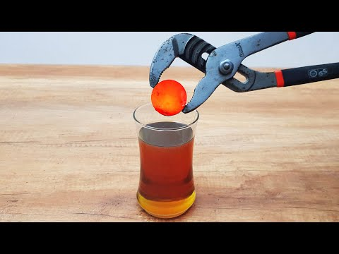 EXPERIMENT Glowing 1000 Degree METAL BALL vs MOTOR OIL