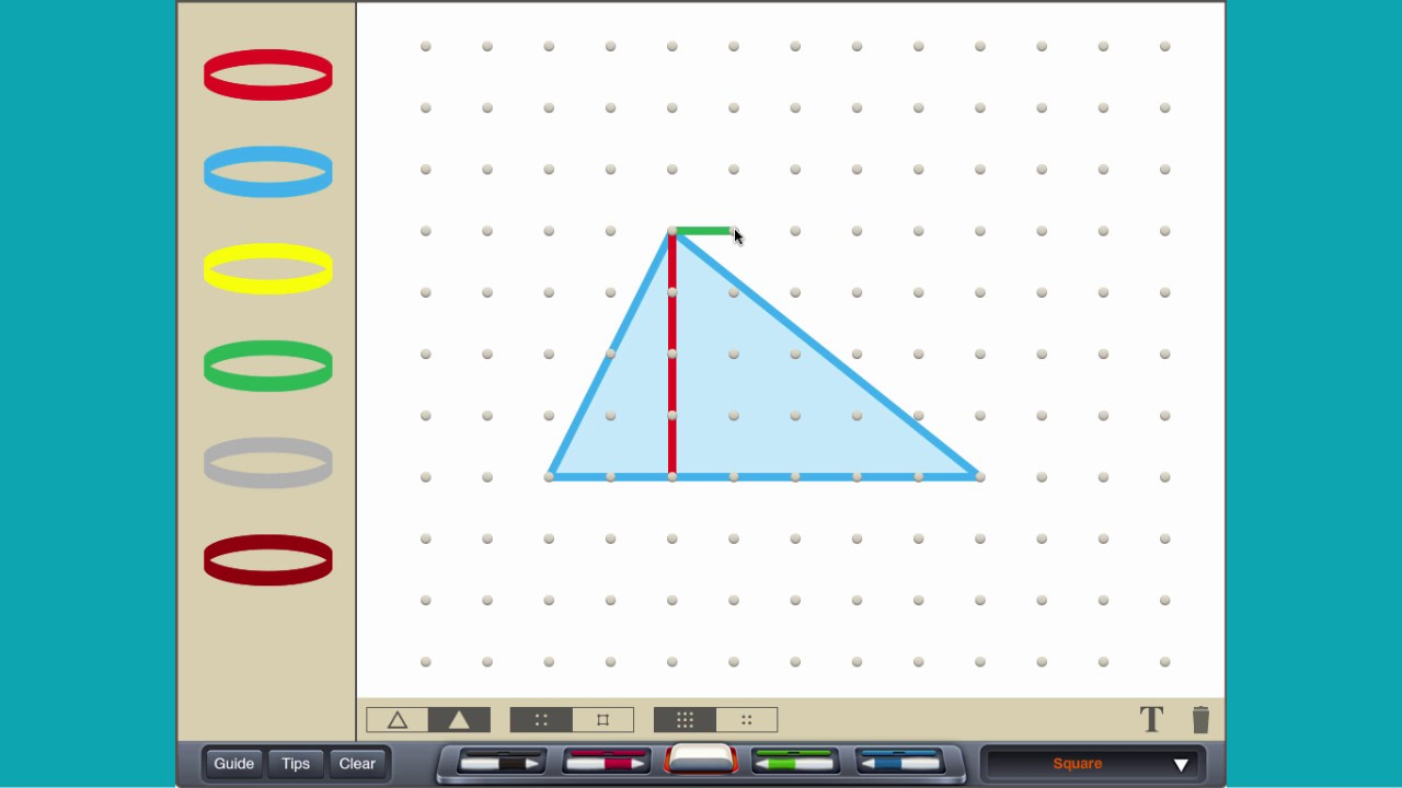 how to find the area of two similar triangles