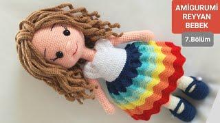 Amigurumi) Kıvırcık Çilli Kız Bebek - Elbise Yapılış 6/6 - YouTube | 180x320