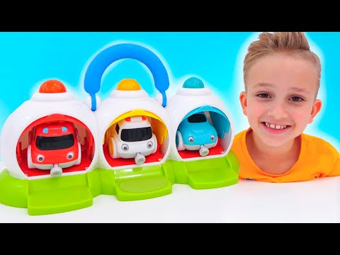 Vlad and Niki have fun with toy cars - Funny videos for kids