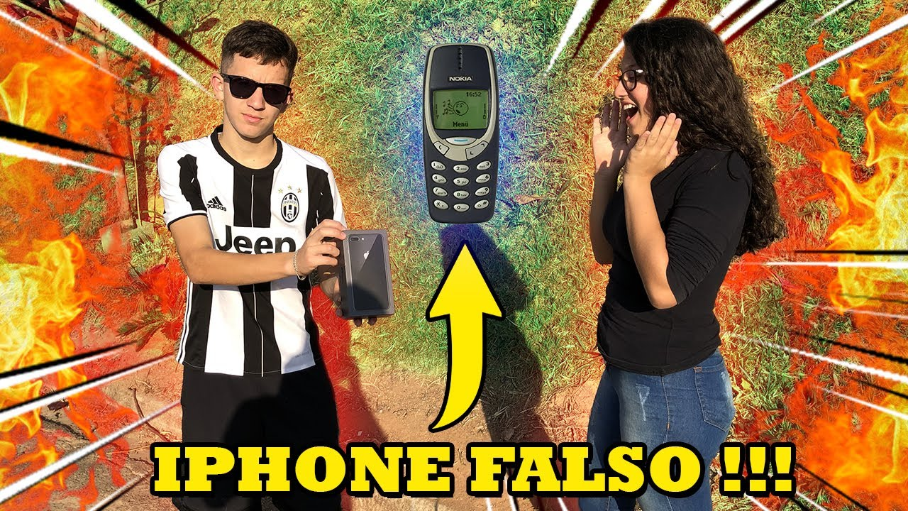 TROLLEI A MINHA CRUSH DANDO UM IPHONE FALSO PARA ELA !!!