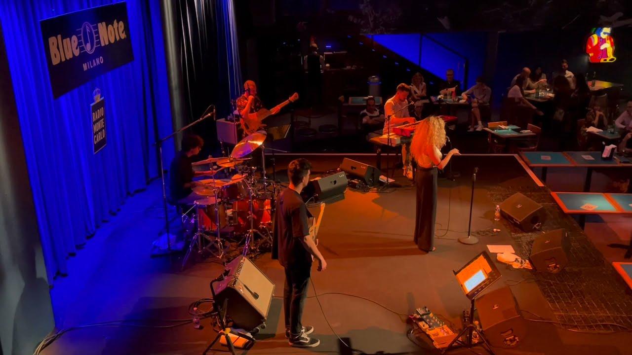 Gianluca Pellerito drum solo Blue Note Milano with Roberta Gentile
