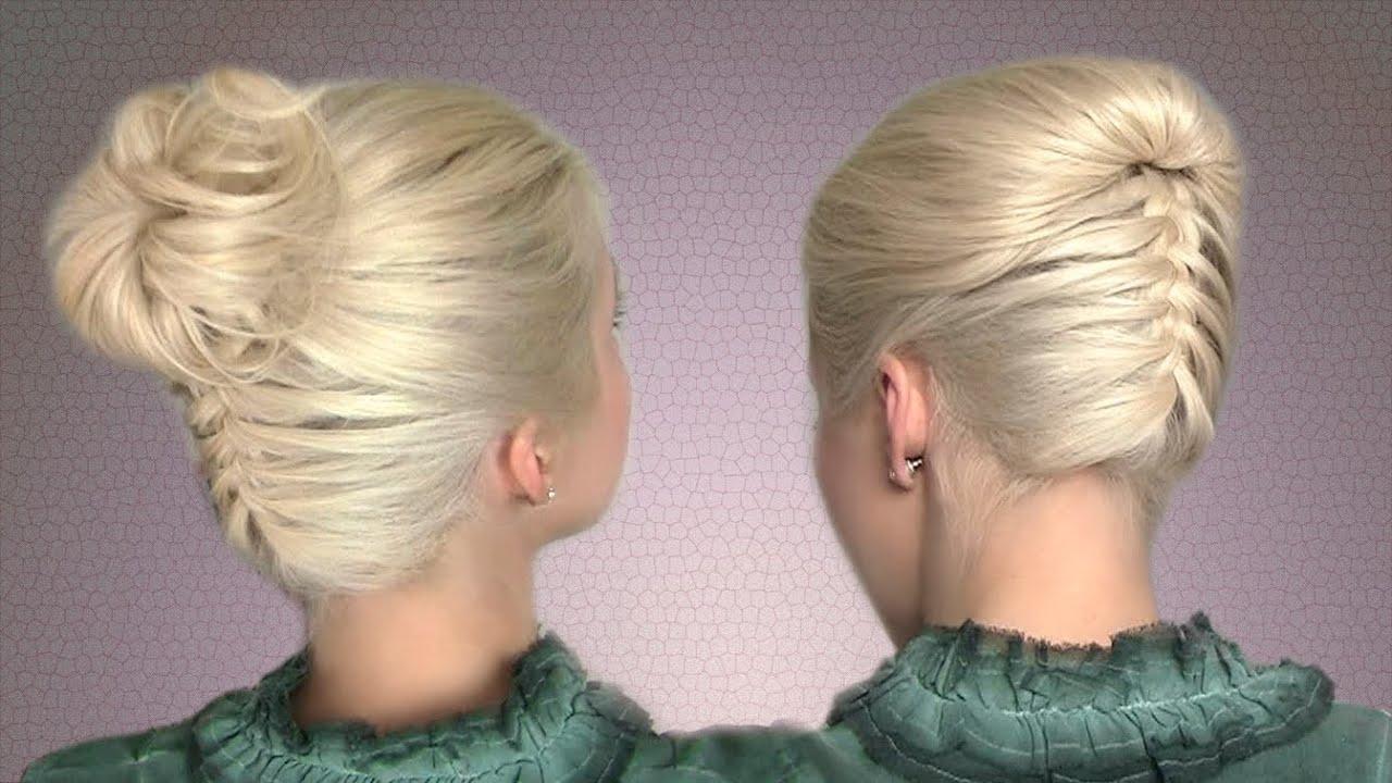 Прическа косичка сзади фото