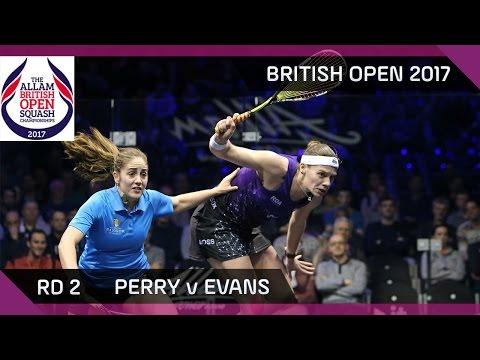 Squash: Perry v Evans - British Open 2017 Rd 2 Highlights