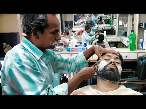 Asmr face massage and beard shaping Epi 10 by Moustache barber.
