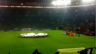Schalke - Galatasaray Champions League Einmarsch *Nordkurve*