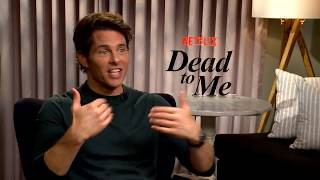"Christina Applegate, Linda Cardellini and James Marsden on ""Dead to Me."""