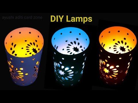 Diy paper lamps | Diwali Decoration Ideas | Diy diwali lamps | Lampshade |