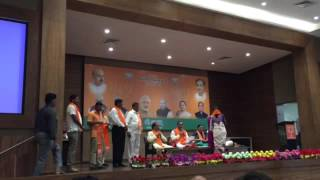 3 Congress members of Dang District Panchayat join BJP