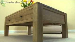 Dakar Solid Oak 4 Drawer Coffee Table From Oak Furniture Land