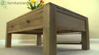 Dakar Solid Oak 4 Drawer Coffee Table From Oak Furniture Land