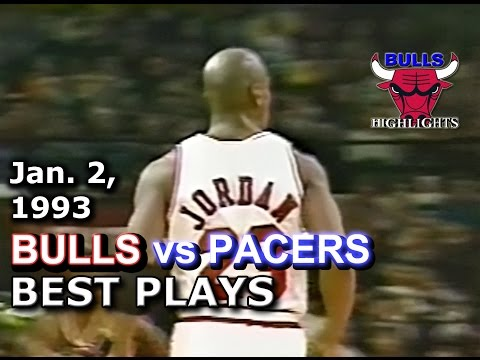 January 02 1993 Bulls vs Pacers highlights