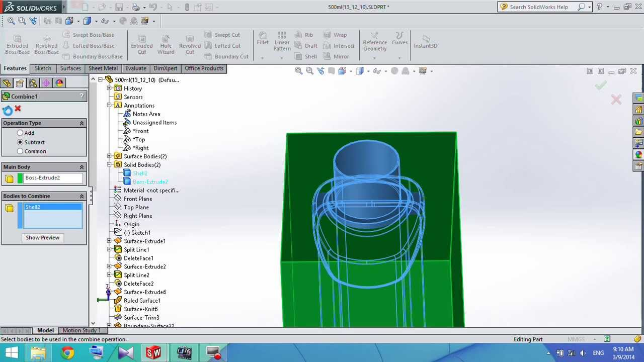 How to calculate volume of plastic bottle in solidworks youtube ccuart Image collections